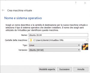 Installazione Ubuntu Server 20.04