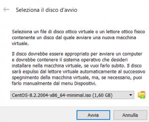 Installazione di CentOS 8